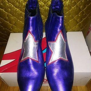 Modern Vice Custom Star Ziggy Stardust Boot Bootie